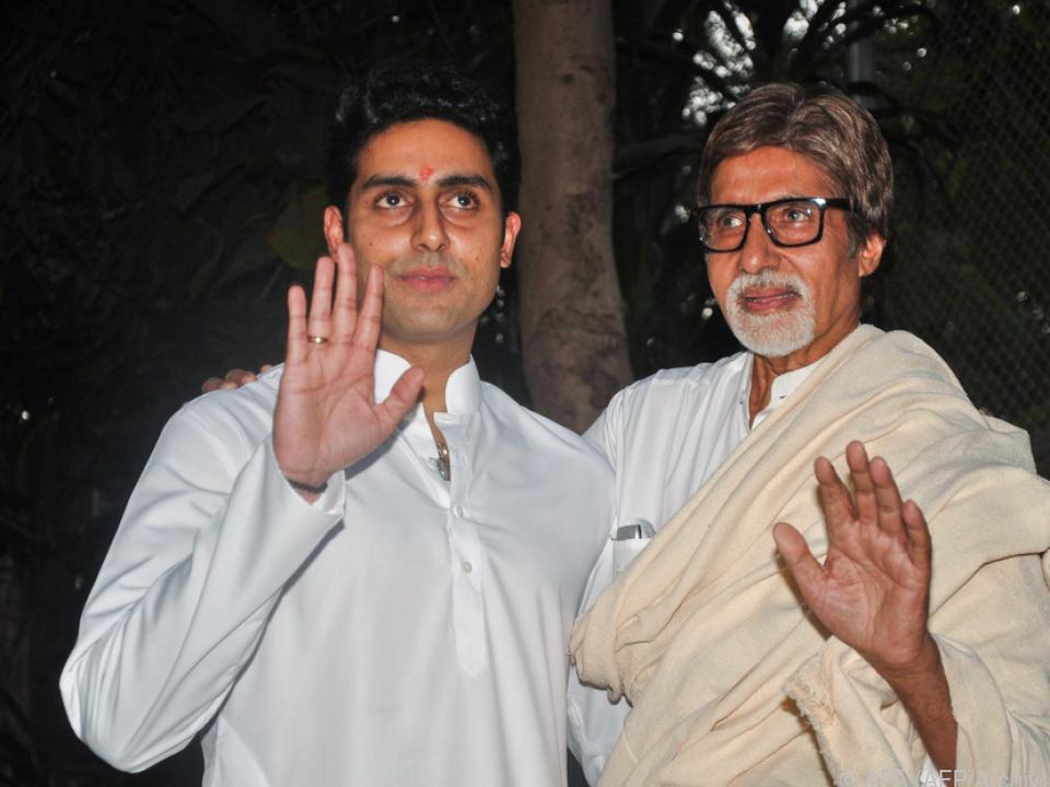 Amitabh Bachchan und sein Sohn positiv auf das Coronavirus getestet