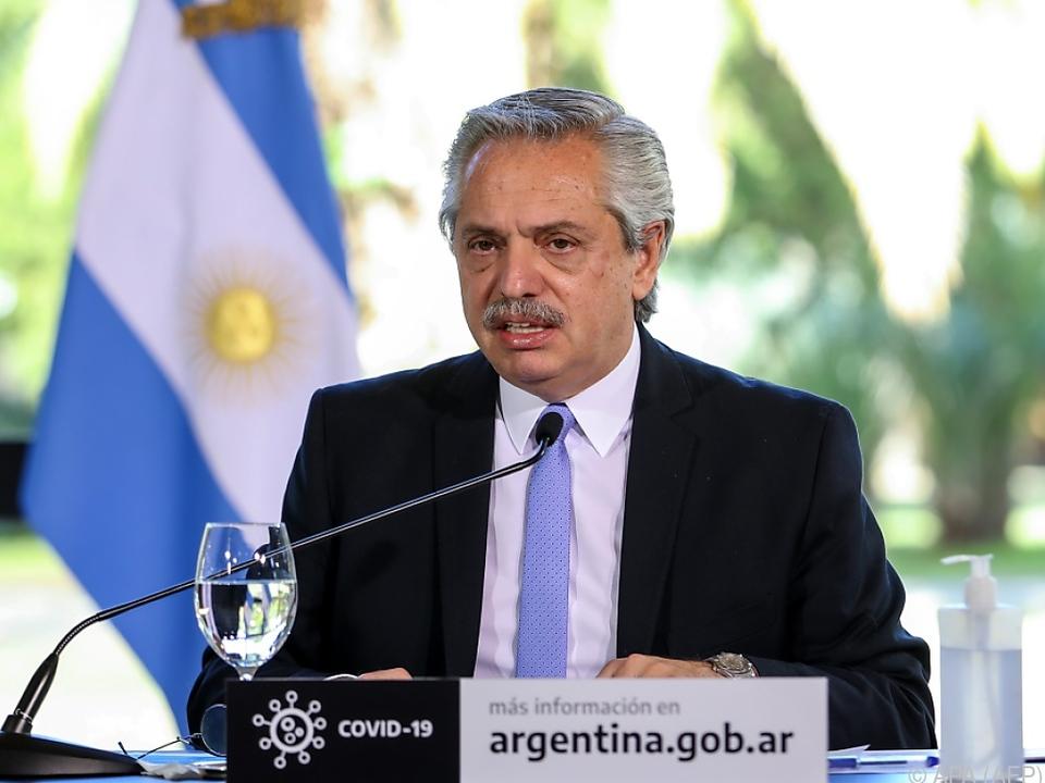 Argentiniens Präsident Alberto Fernandez