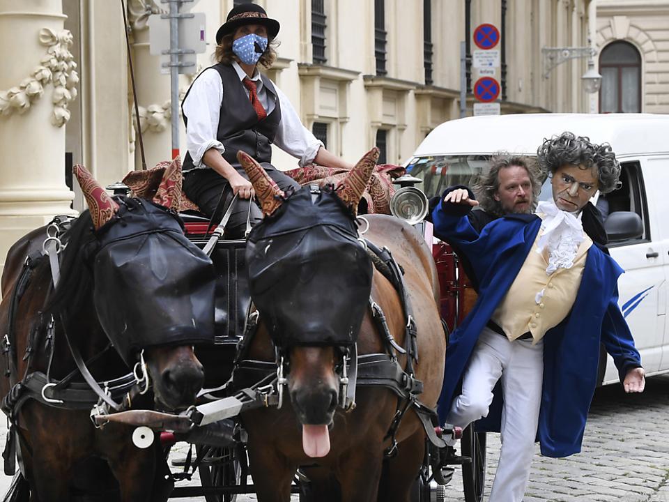 Auch Ludwig van Beethoven lädt zur Fiakerfahrt ein