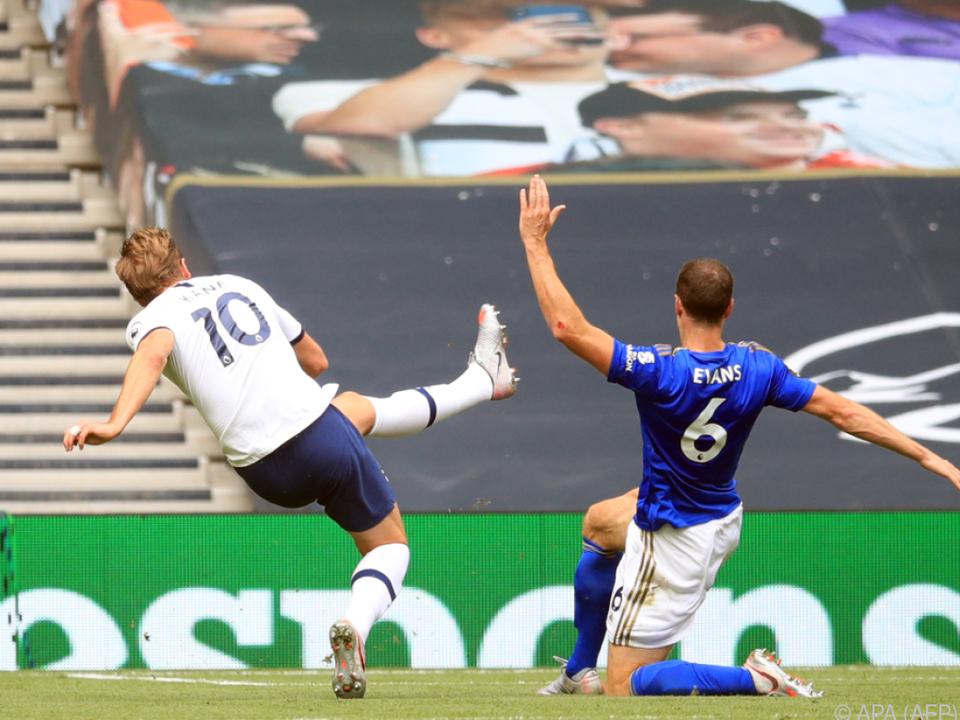 Auch Stürmerstar Harry Kane traf gegen Leicester