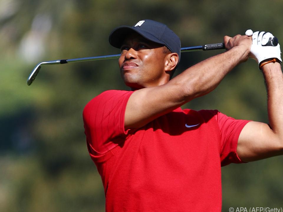 Auch Superstar Tiger Woods ist am Start