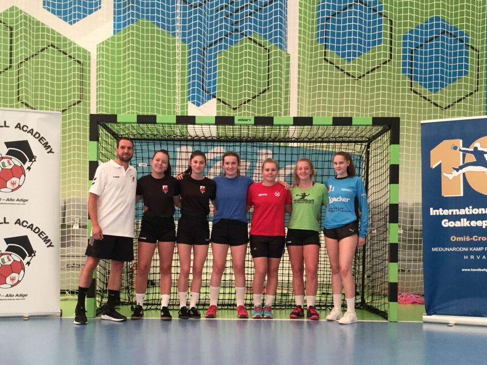 Auswahl von Südtiroler Handball-Torwarttalenten