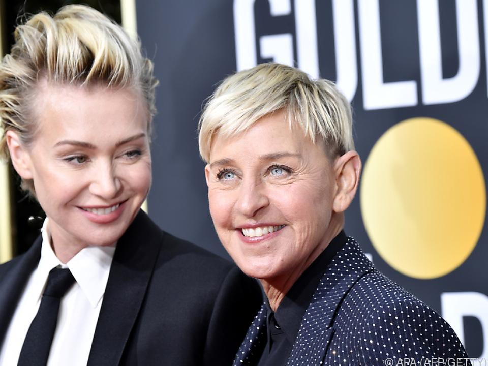 Bei Ellen (r) und Portia de Rossi wurde eingebrochen