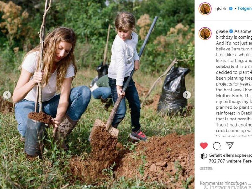 Bündchen möchte Mutter Erde etwas zurückgeben