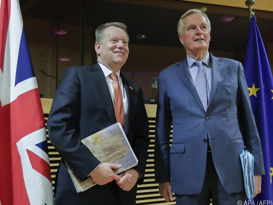 Chefverhandler David Frost und Michel Barnier