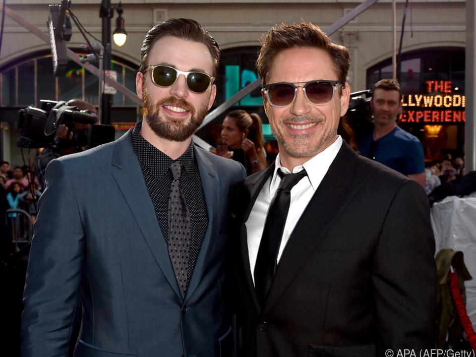 Chris Evans und Robert Downey Jr. zeigten sich beeindruckt