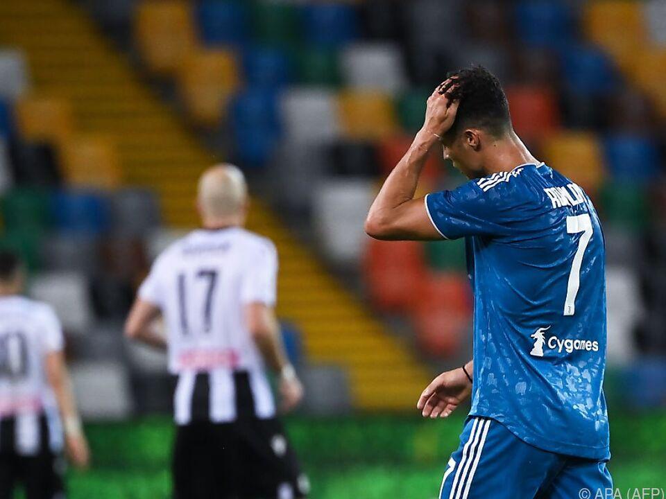 Cristiano Ronaldo kann es nicht fassen