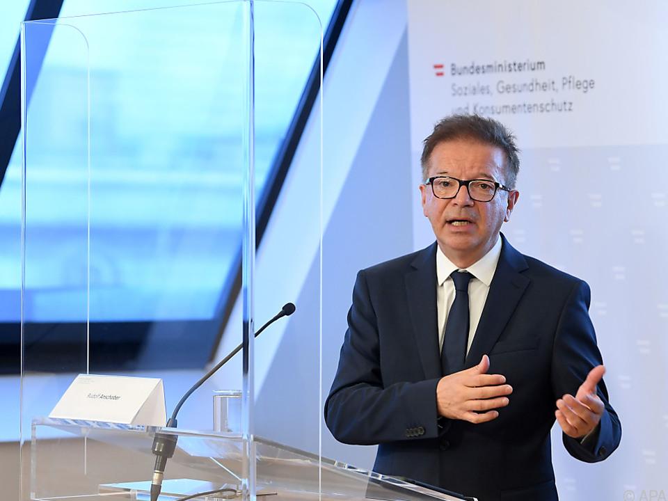 Das Risikobewusstsein steigt laut Gesundheitsminister Anschober wieder