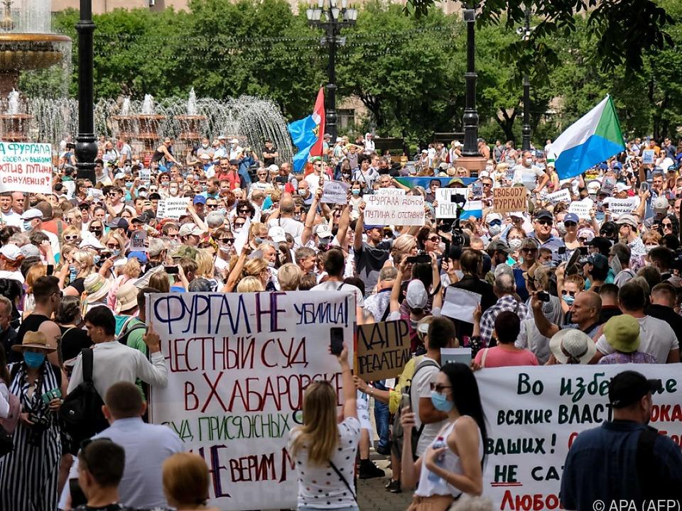 Dem Kreml passen die Proteste nicht, daher ignoriert er sie