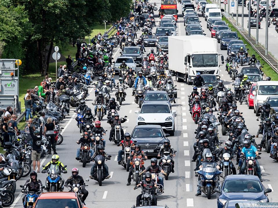 Demonstration gegen drohende Fahrverbote in München