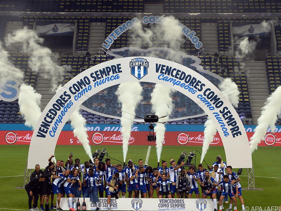 Der FC Porto feiert die Meisterschaft