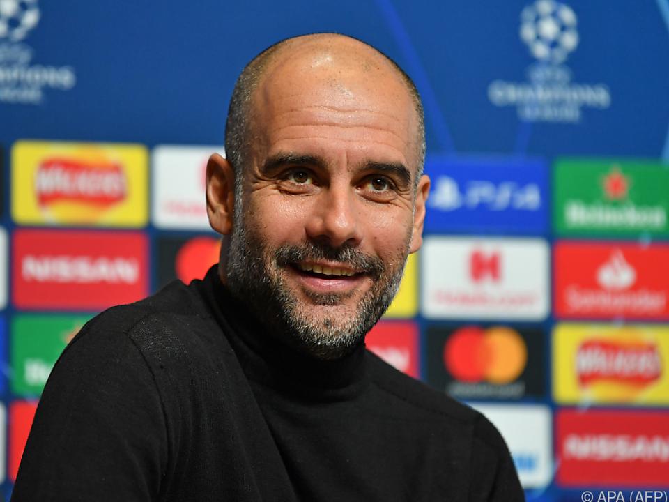Der spanische City-Coach hat gut Lachen