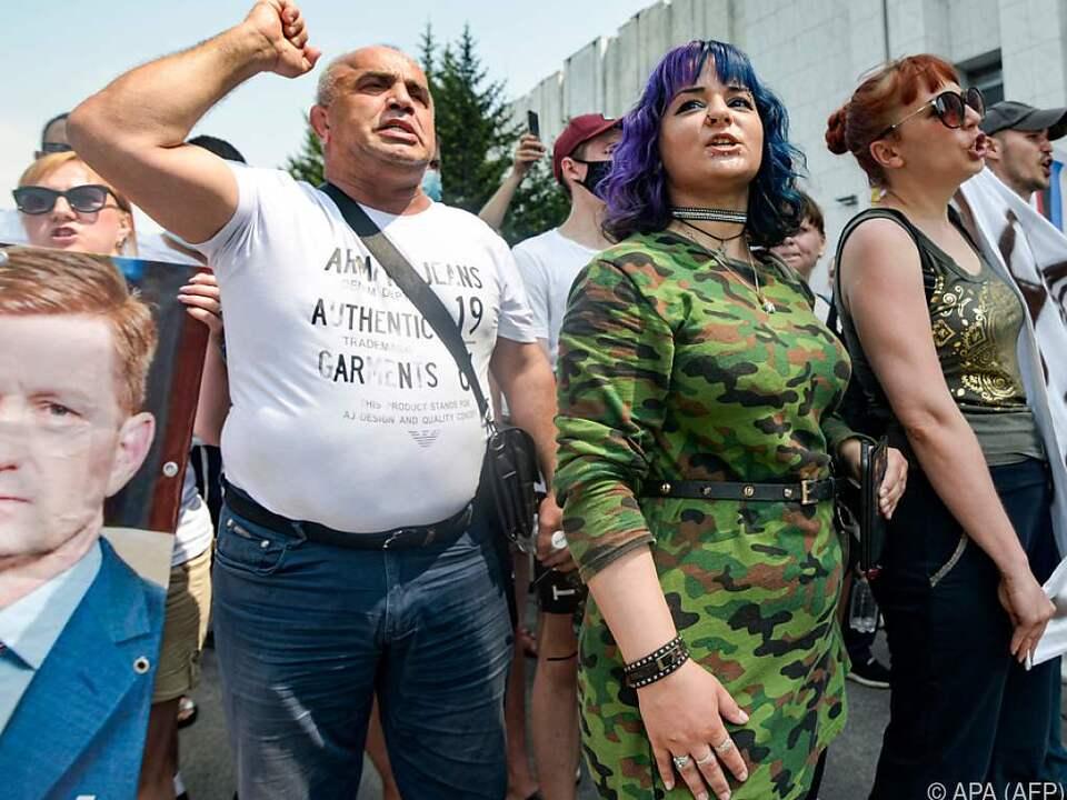 Die Demonstranten forderten Furgals Freilassung