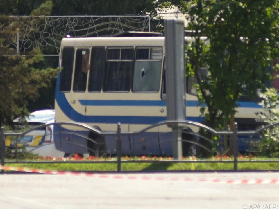 Die Geiseln wurden in einem Linienbus festgehalten