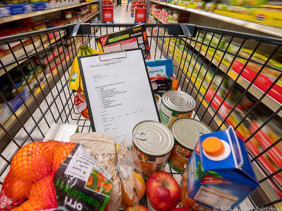 Die Nahrungsmittelpreise stiegen um knapp drei Prozent