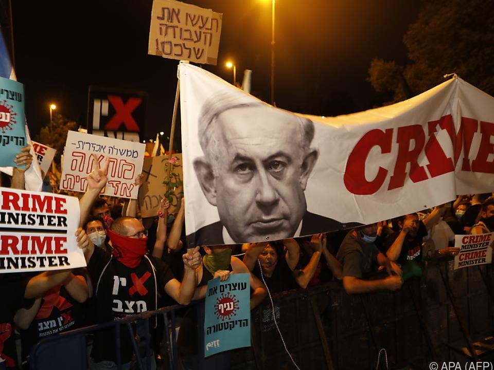 Die Proteste gegen Premier Netanyahu häufen sich