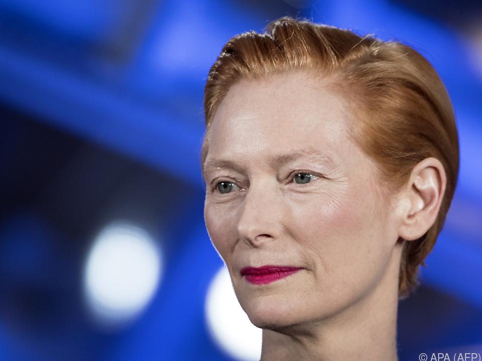 Die schottische Schauspielerin Tilda Swinton