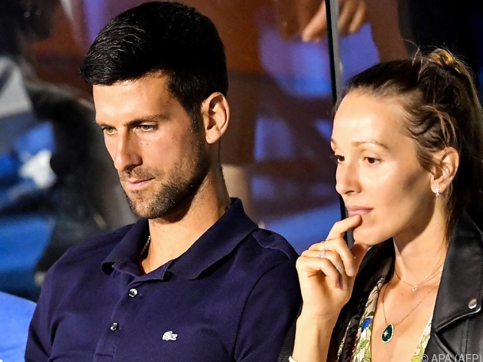 Djokovic und seine Frau Jelena waren positiv getestet worden