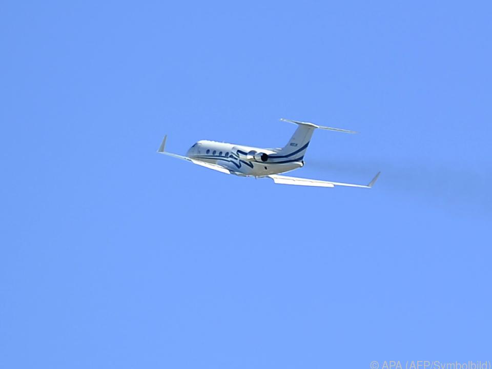 Ein Gulfstream Privatjet aus Russland durfte zweimal in Salzburg landen