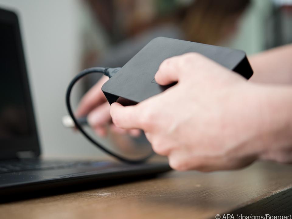 Eine externe Festplatte ist ideal zur Datensicherung