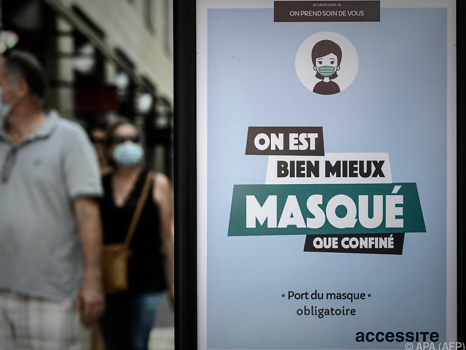 Verschärfte Maskenpflicht in Frankreich tritt in Kraft