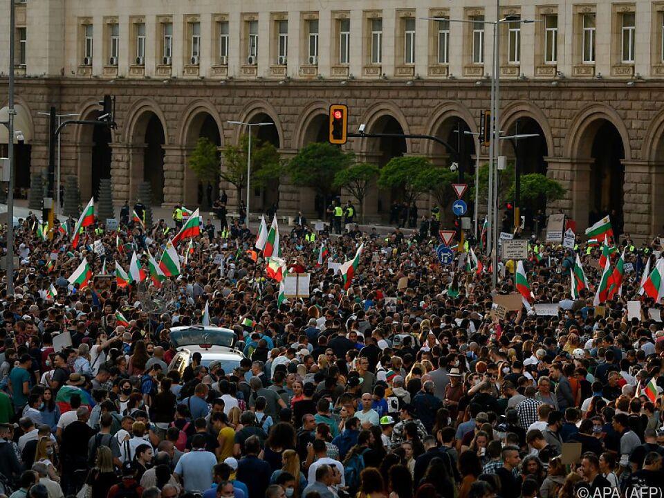 Großkundgebung im Zentrum der Hauptstadt Sofia