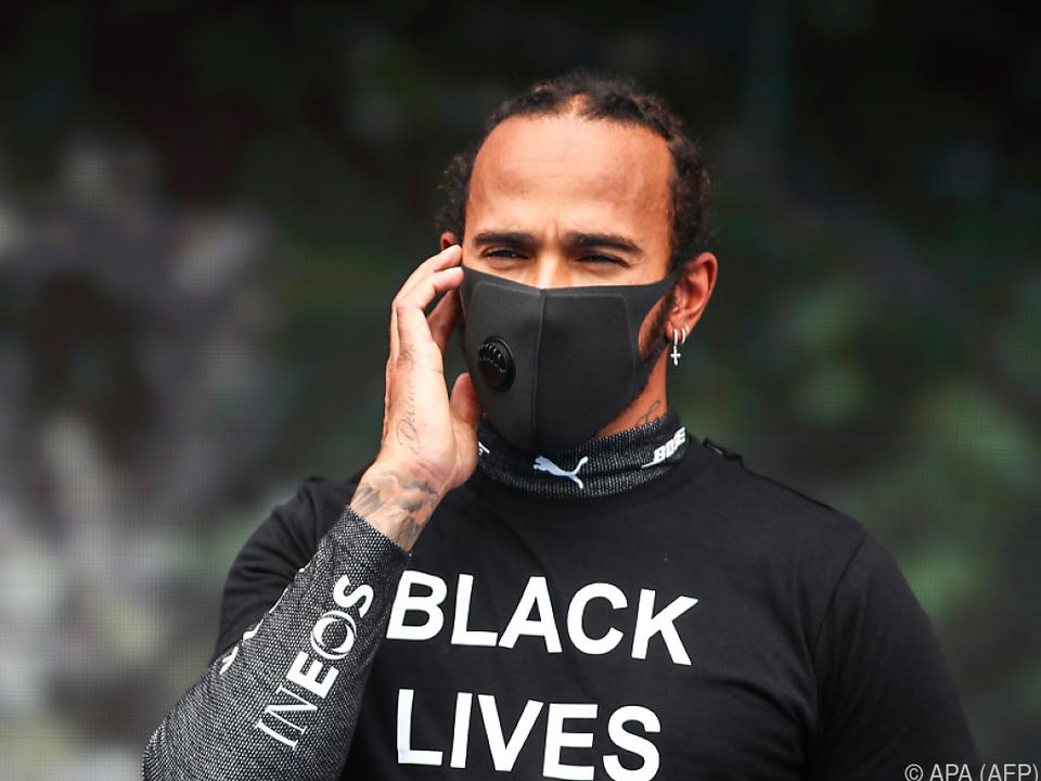 Hamilton setzt sich gegen Diskriminierung ein