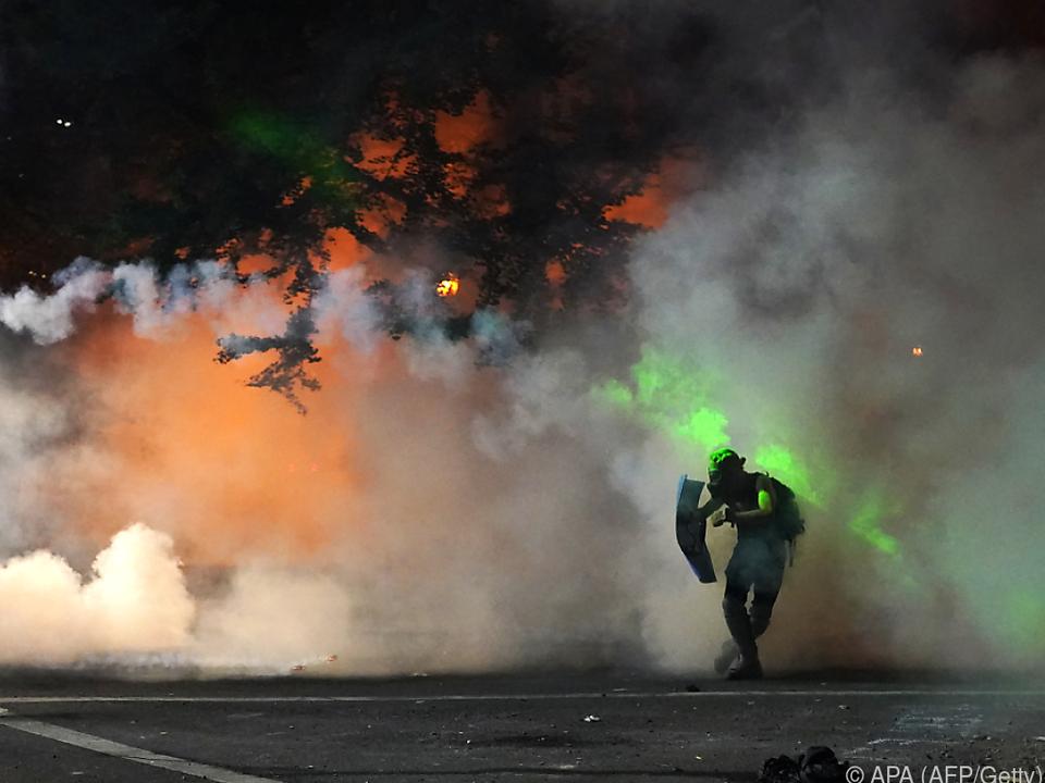 Heftige Proteste in Oregon