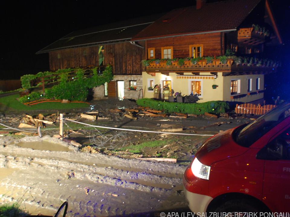 In Bad Gastein mussten 16 Häuser evakuiert werden