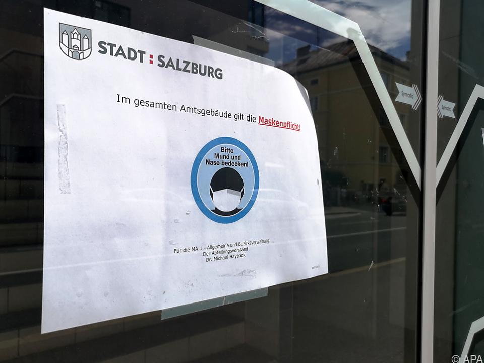 In Salzburg gilt zum Teil die Maskenpflicht