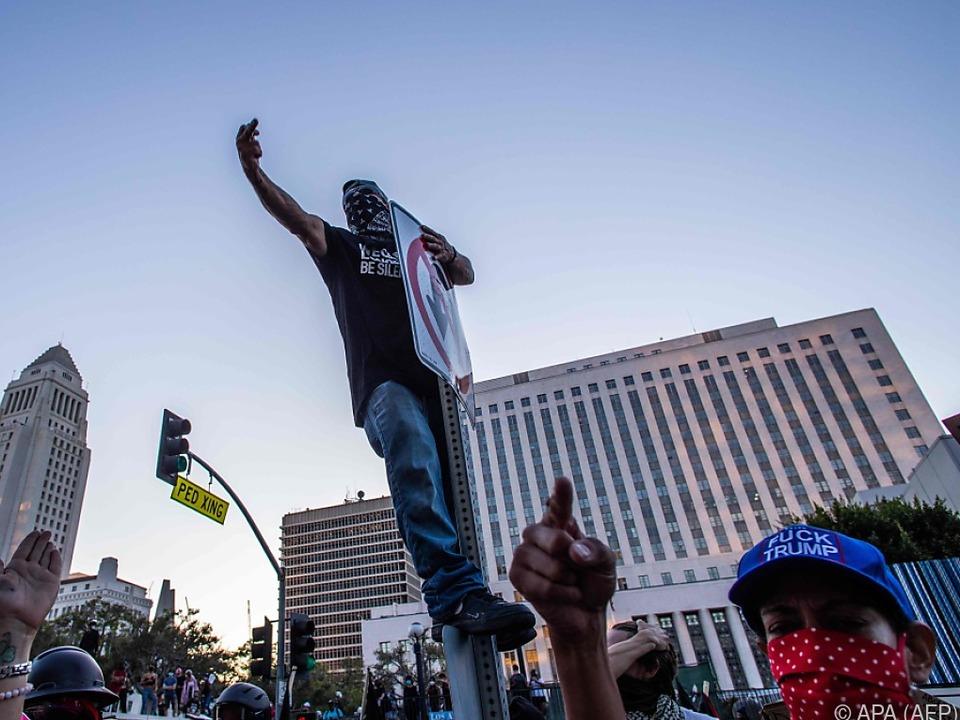 Kundgebungen nicht immer so friedlich wie hier in Los Angeles