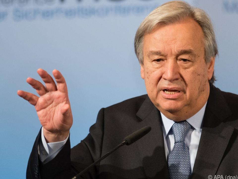 Laut Guterres Wohlstand, Gesundheit und Bildung weltweit in Gefahr