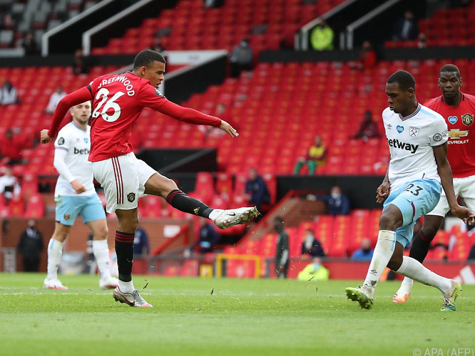 Mason Greenwood erzielte den Ausgleichstreffer gegen West Ham