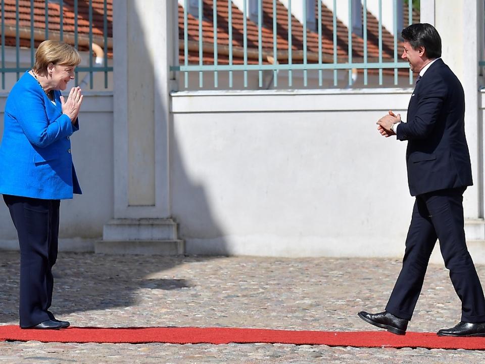 Merkel empfing Conte auf Schluss Meseberg