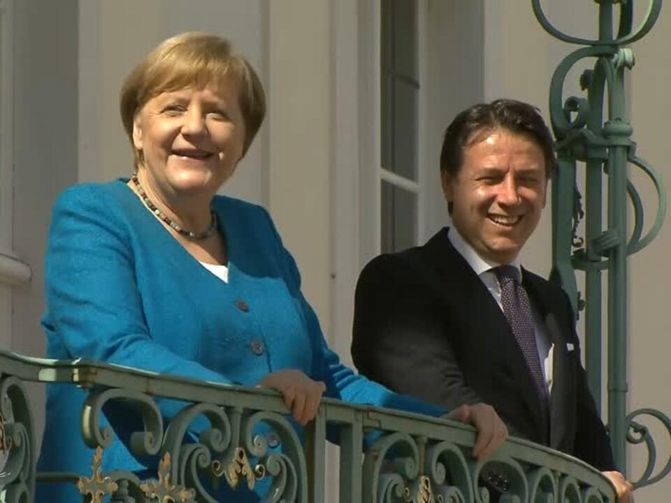 Merkel trifft Conte vor EU-Gipfel - Krise gemeinsam überwinden