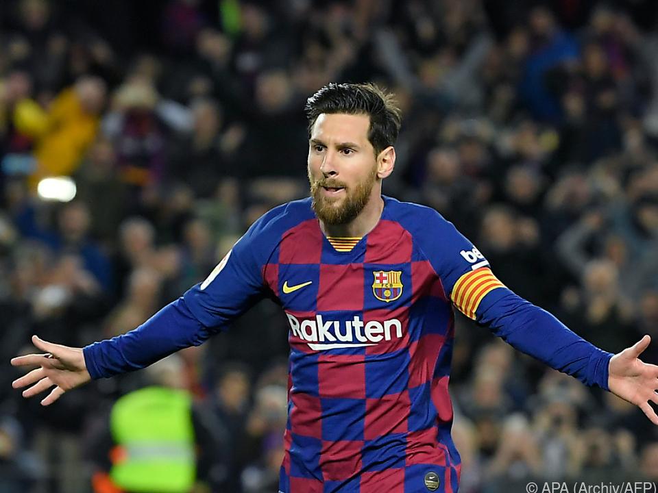 Messi wurde in Inter-Trikot gezeigt