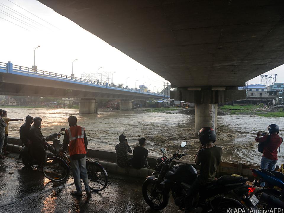 Monsun zwischen Juni und September in Indien