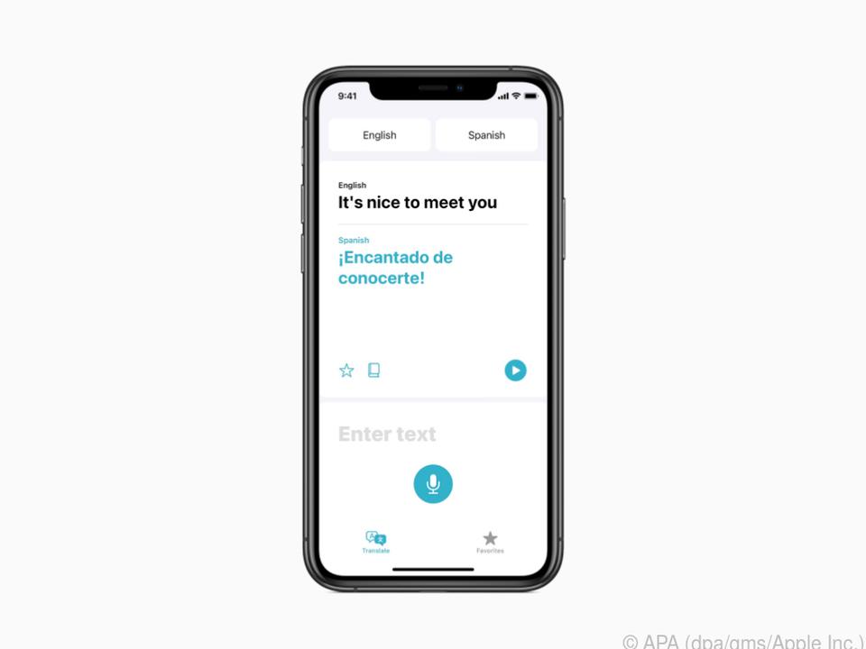 Eine Übersetzer-App soll künftig fester Bestandteil von iOS sein