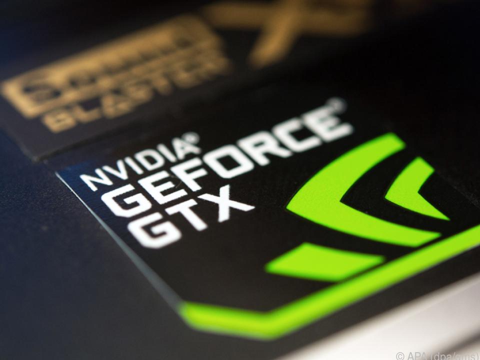 Nvidia-Aufkleber auf einem Notebook