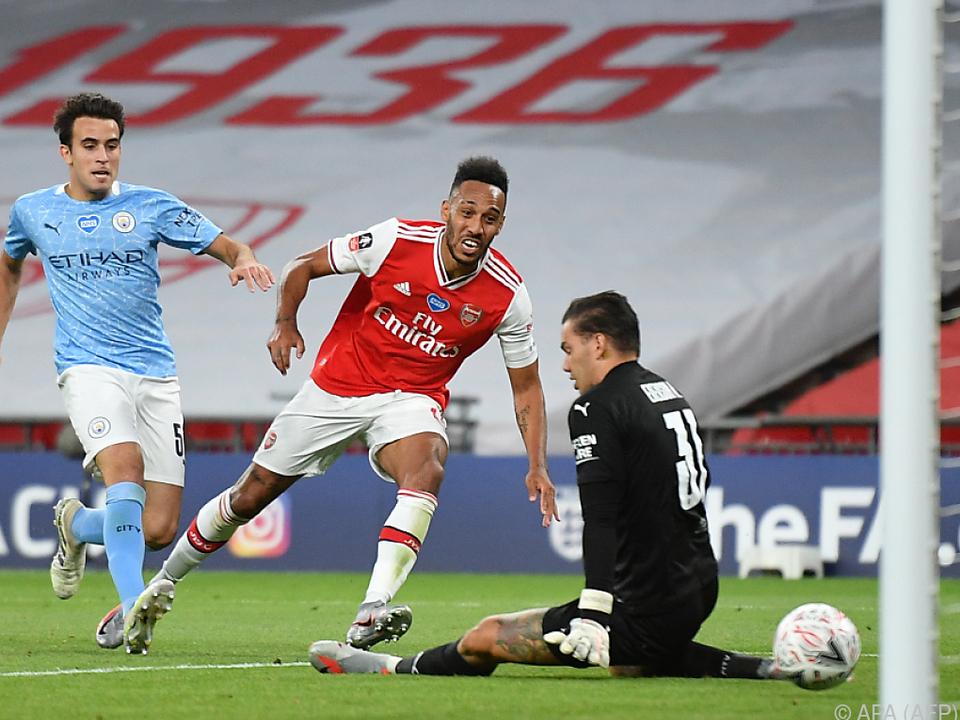 Pierre-Emerick Aubameyang erzielt seinen zweiten Treffer