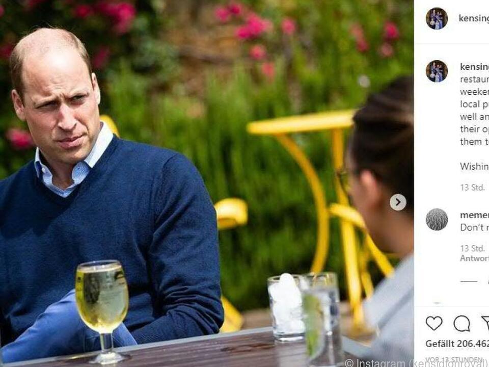 Prinz William genoss als einer der ersten ein Gläschen Cider