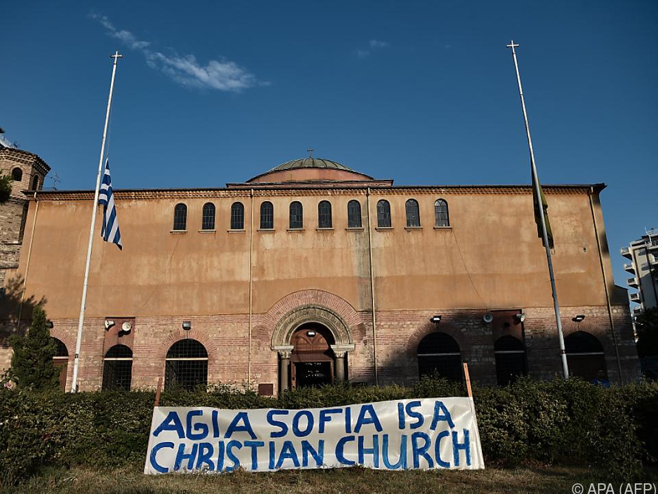 Proteste in Athen, nachdem aus der Hagia Sophia eine Moschee wurde