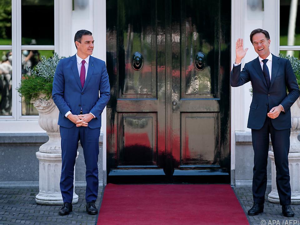 Rutte empfing Sánchez in seinem Amtssitz Catshuis
