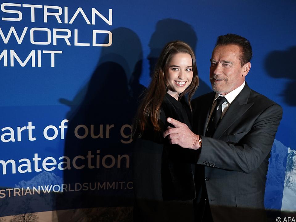 Schwarzenegger mit seiner zweitältesten Tochter Christina