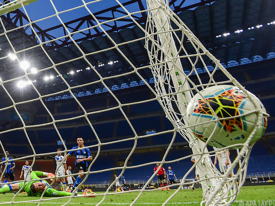 Sechs Mal zappelte der Ball im Brescia-Tor