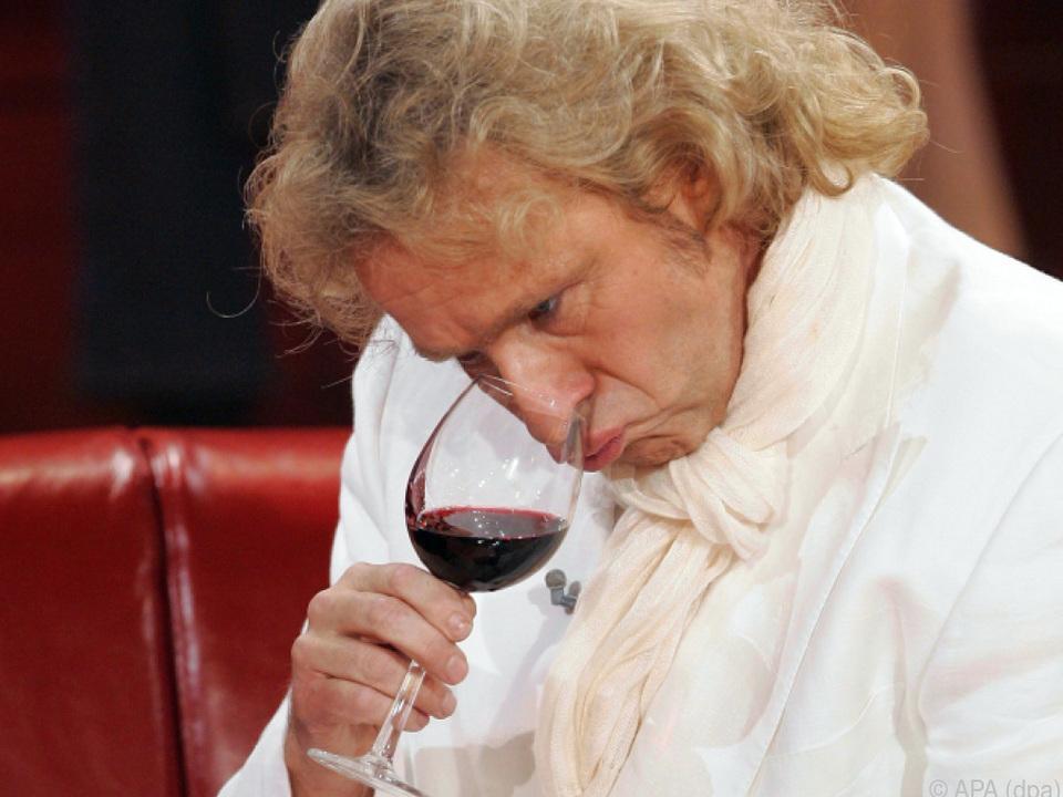 Thomas Gottschalk ist ein Weintrinker