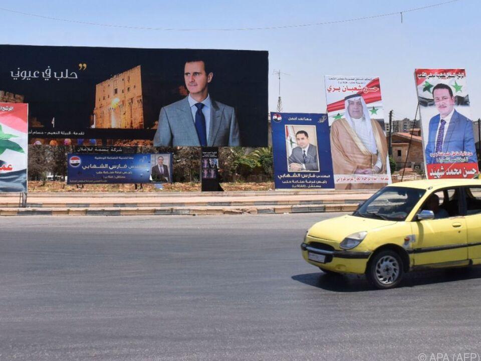 Parlamentswahl in Syrien trotz Bürgerkrieg   In-/Ausland