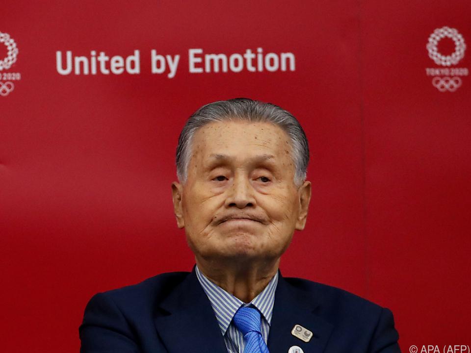 Yoshiro Mori versucht optimistisch zu bleiben