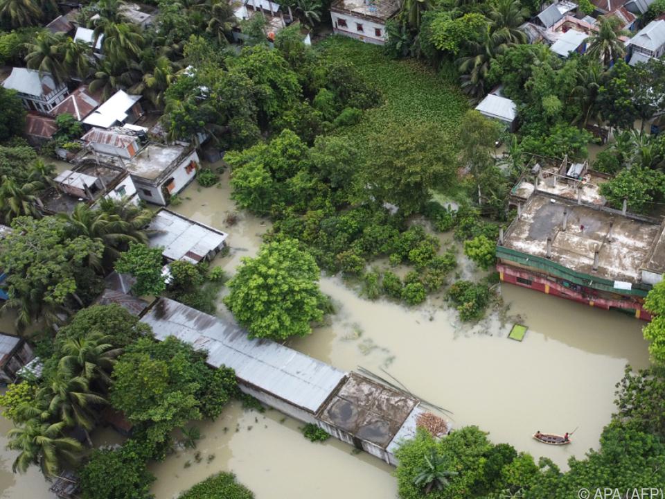 Zahlreiche Häuser wurden zerstört
