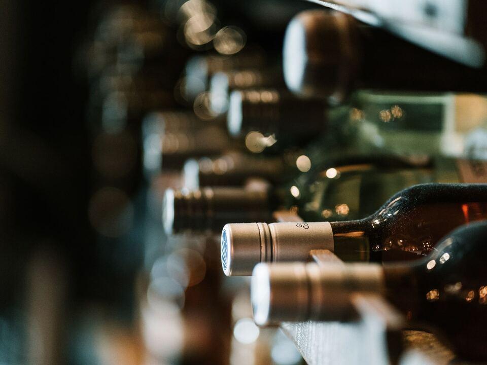 Wein Weinflasche